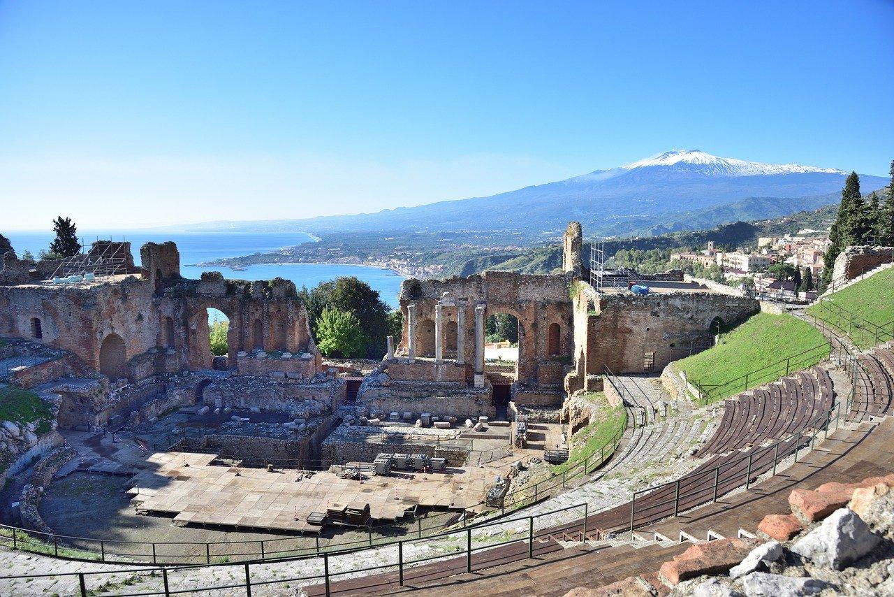 teatro greco di Taormina, Sicilia
