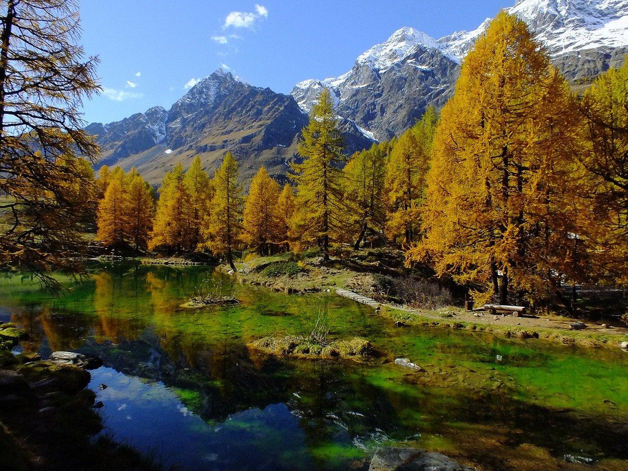 lago bleu, Valle d'Aosta