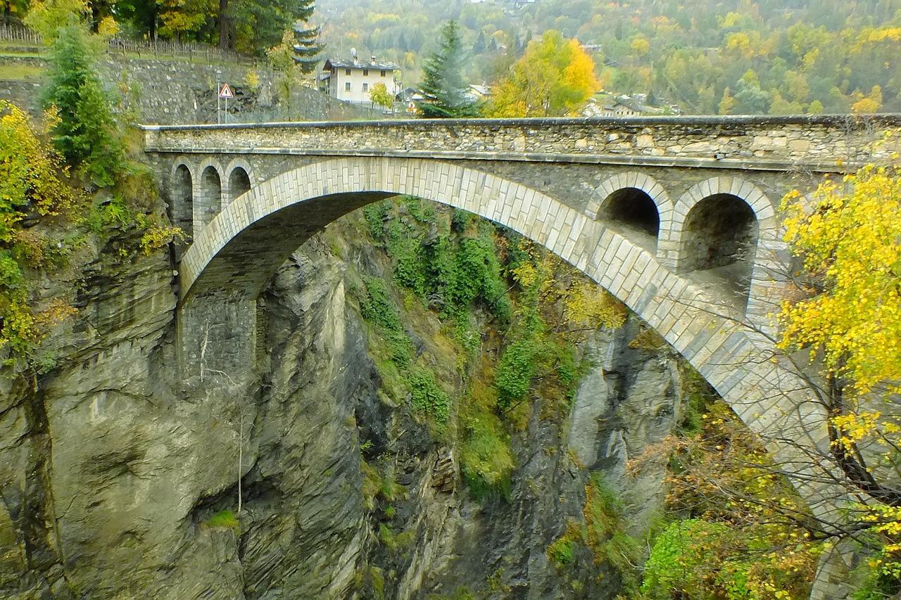 ponte di introd, Valle d'aosta